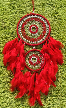Picture of Red Fiercy Double Dreamcatcher