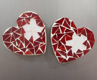 Picture of Mosaic heart Magnets