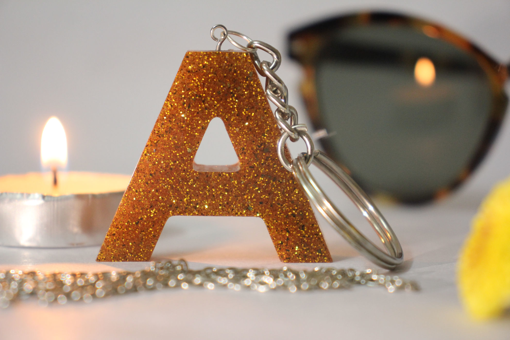 Picture of Custom Glitter keychain