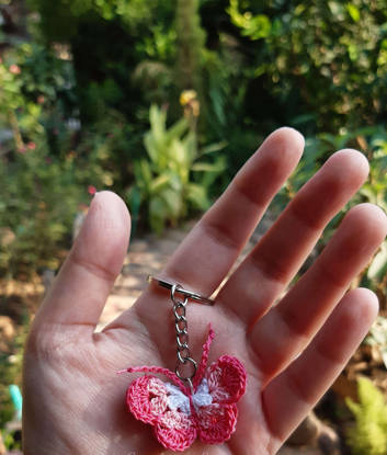 Picture of Crochet Butterfly Keychain