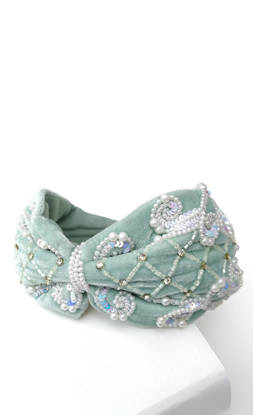 Picture of Green velveteen Hairband