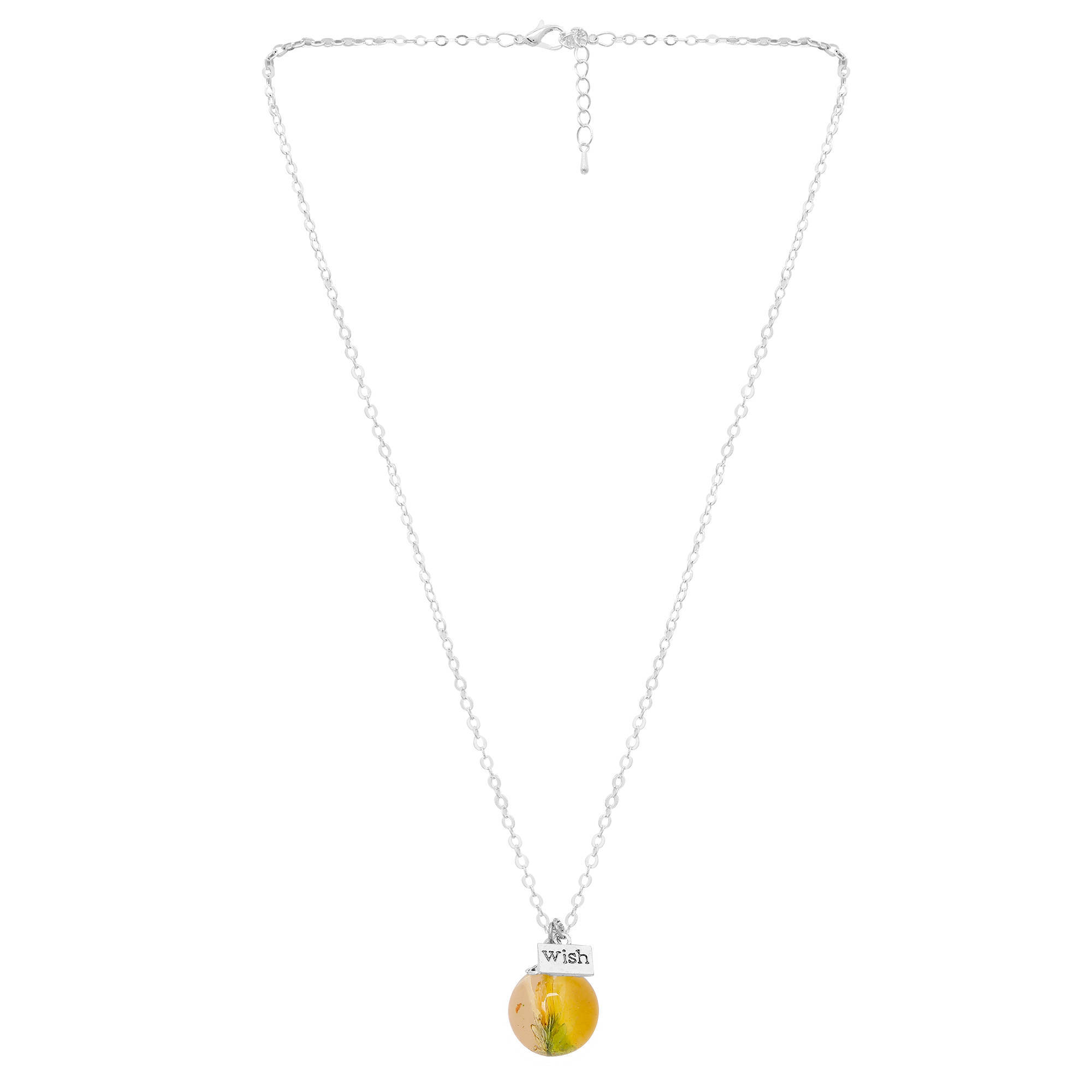 Picture of Handmade Yellow Daisy Dome Pendant
