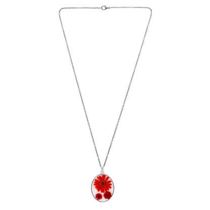 Picture of Handmade Red Daisy With Flowers Pendant