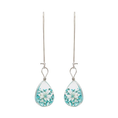 Handmade Anne's Lace Glass Earrings