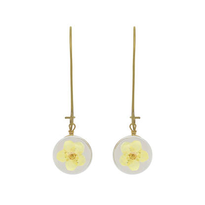Handmade Yellow Forget-Me-Not Earrings