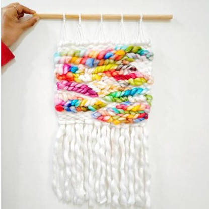 Picture of Rainbow weave wall hanging