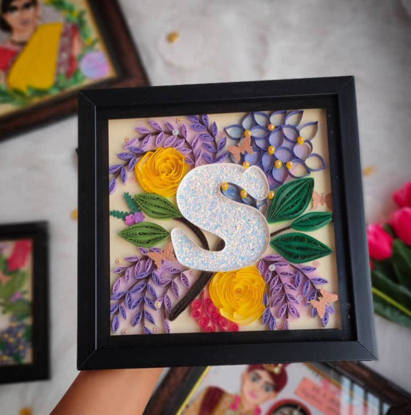 Picture of Quilling Letter Initials