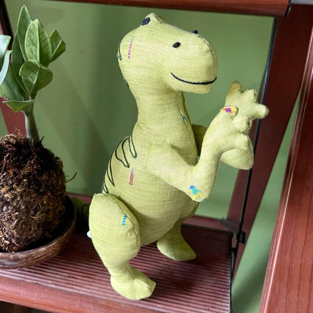 Picture of dinosaur soft toy