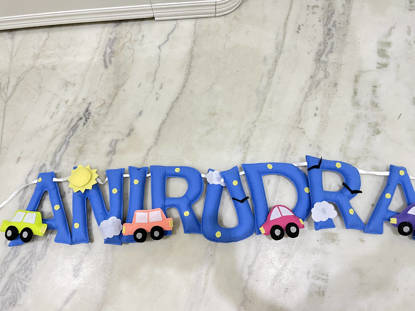 Picture of Car Name Bunting