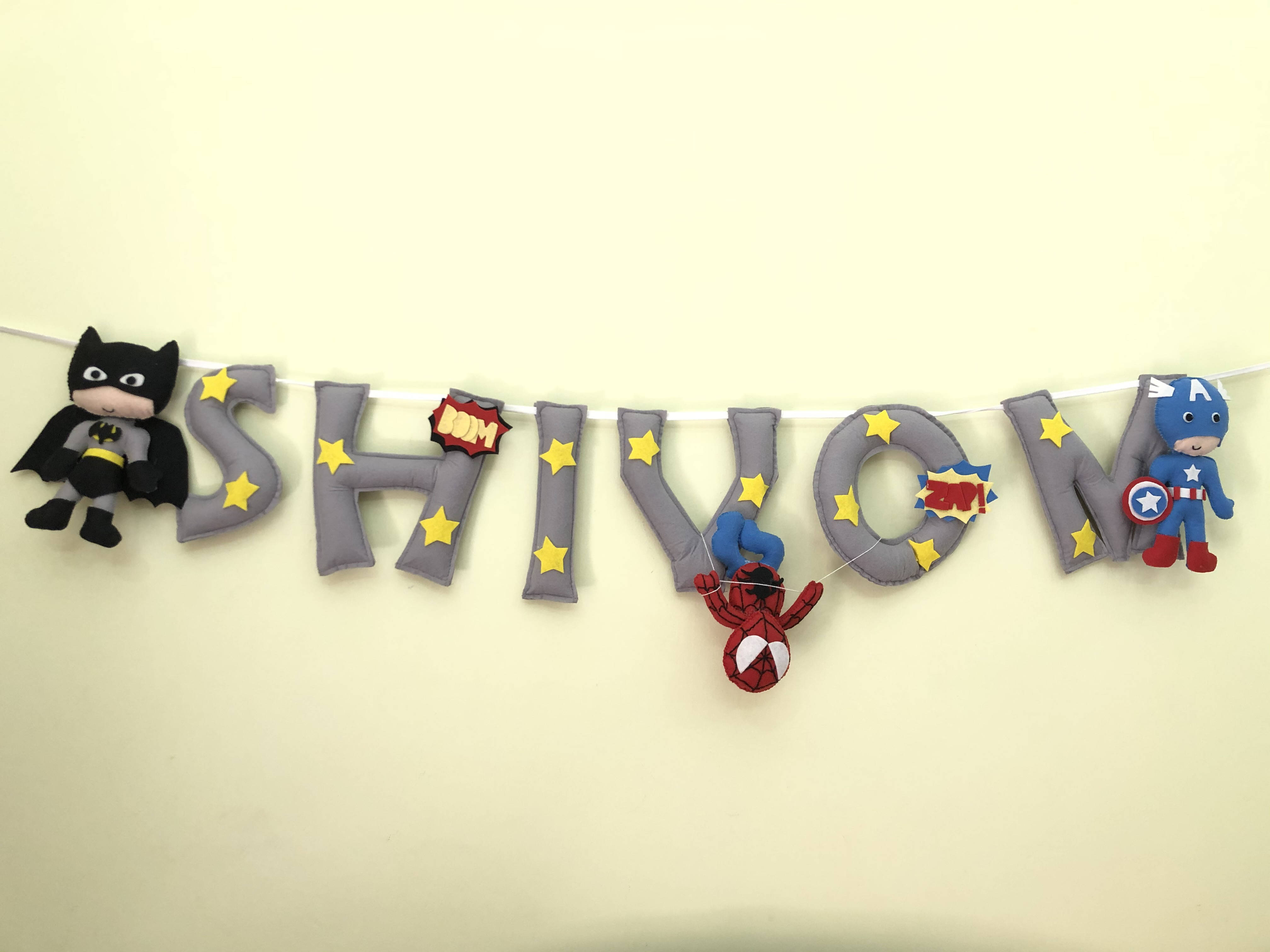 Picture of Superhero Name Bunting