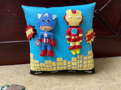 Picture of 3D  Superhero Pillow