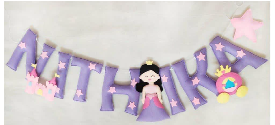 Picture of Princess Name Bunting