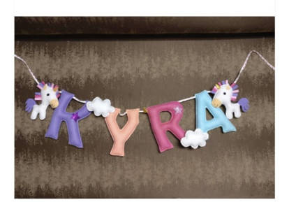Picture of Unicorn Name Bunting