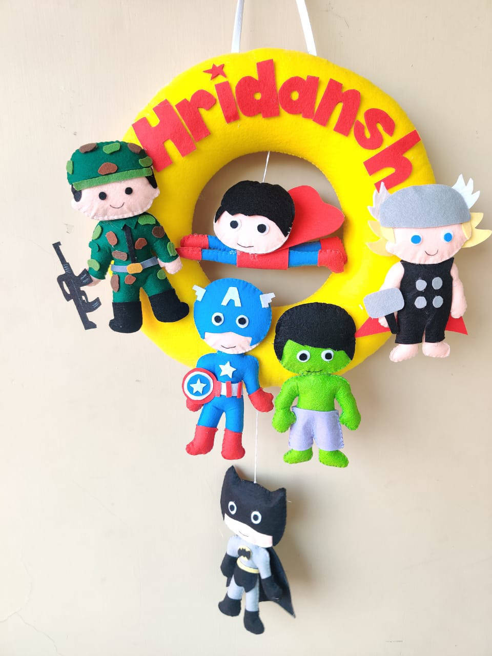 Picture of Superhero Wall Hanging