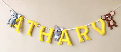 Picture of Cartoon Name Bunting