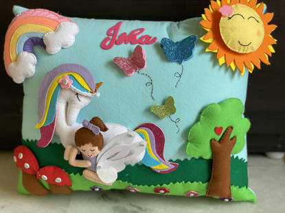 Picture of 3D  Unicorn Pillow