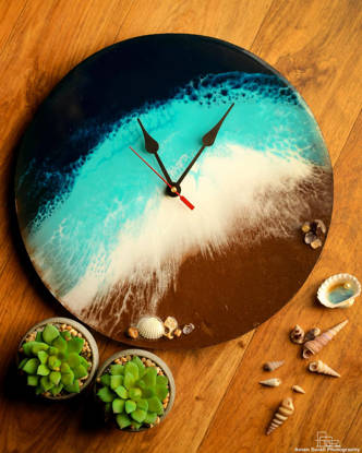 Picture of Beach Resin Wall Clock