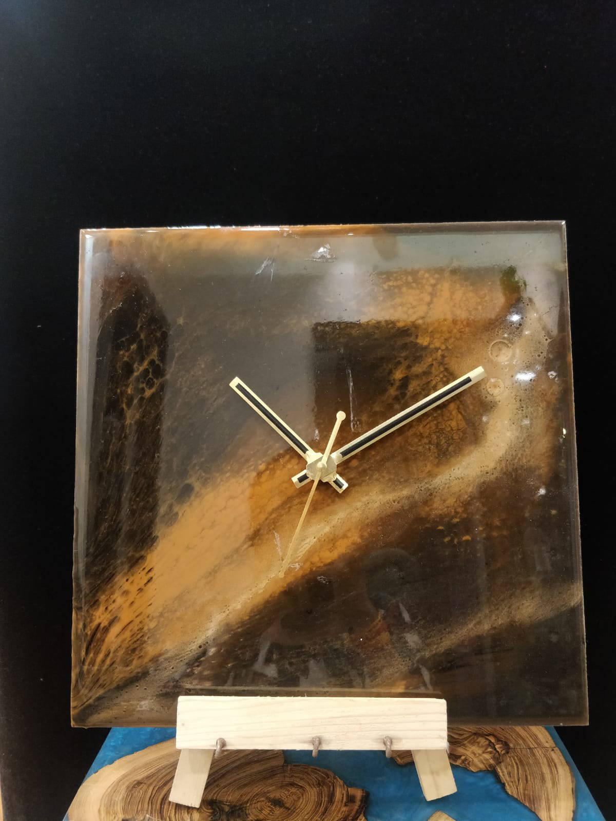 Picture of Brown and Golden Resin Wall Clock