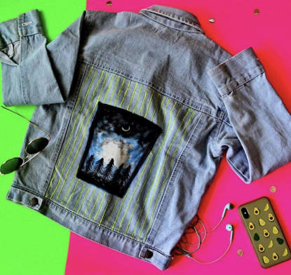Picture of Starry Night Denim Jacket