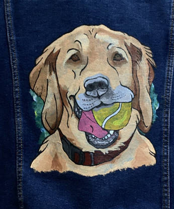 Picture of Dog with a Ball Denim Jacket