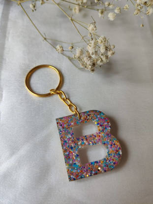 Picture of Resin letter keychain