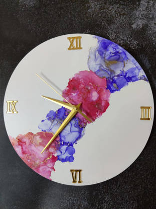 Picture of Alcohol Ink  Wall Clock