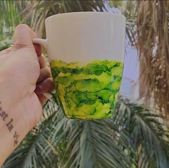 Picture of Alcohol Ink  Coffee Mugs