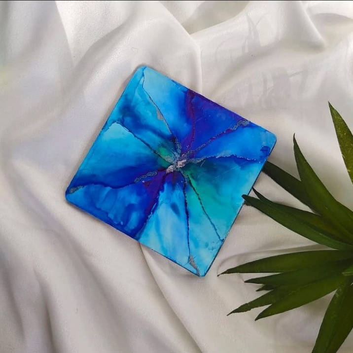 Picture of Alcohol Ink coaster Set